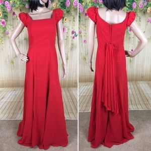 Light in the Box Red Full Length Gown